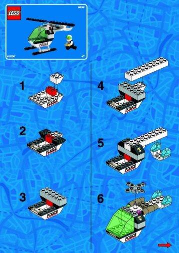 Lego POLICE HEADQUARTER - 6636 (2002) - Super Pack BI 6636 HELICOPTER 4/7