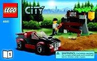 Lego Police Dog Van - 4441 (2011) - Police Dog Van BI 3004/36 - 4441 V39 1/2
