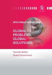 wto public forum 2009 - World Trade Organization
