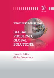 wto public forum 2009 - World Trade Organization