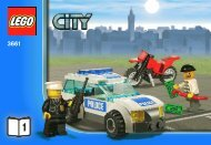 Lego Bank & Money Transfer - 3661 (2011) - POLICE W. 2 ROAD PLATES BI 3010/24 - 3661 V. 29 1/3