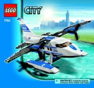 Lego Police Pontoon Plane - 7723 (2008) - Police Minifigure Collection BUILD. INSTR 3005, 7723 1/1 NA