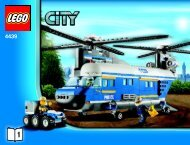Lego Heavy-Duty Helicopter - 4439 (2011) - POLICE W. 2 ROAD PLATES BI 3019 / 60 - 65g-4439 V39 1/2