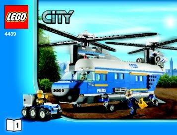 Lego Heavy-Duty Helicopter - 4439 (2011) - POLICE W. 2 ROAD PLATES BI 3019 / 60 - 65g-4439 V39 1/2