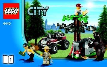 Lego Forest Police Station - 4440 (2011) - POLICE W. 2 ROAD PLATES BI 3004/32 -4440 V29 1/5