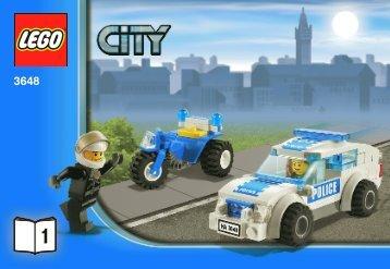 Lego Police Chase - 3648 (2011) - POLICE W. 2 ROAD PLATES BI 3010/32 - 3648 V. 29 1/2
