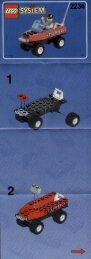 Lego POLICE W. 2 ROAD PLATES - 2234 (1998) - POLICE W. 2 ROAD PLATES BUILDINSTR. 2234 4/7