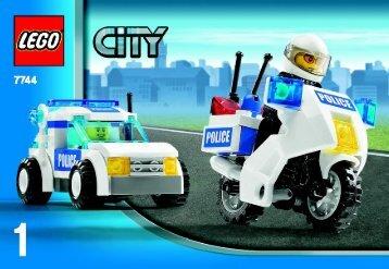 Lego CITY Police - 66257 (2008) - Super Pack BUILD INSTR 3001, 7744 1/4