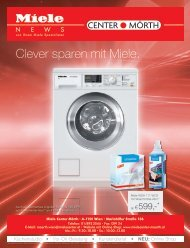 Miele Center Moerth - Clever sparen mit Miele.