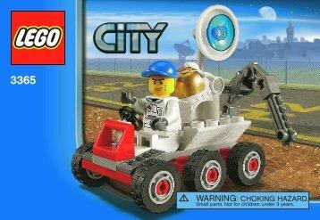 Lego Space Moon Buggy - 3365 (2011) - Space Moon Buggy BI 3001/24 - 3365 NA
