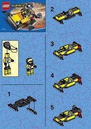 Lego Turbo Tiger - 6519 (2000) - Res-Q Jet Ski BUILD.INST. FOR 6519