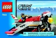 Lego Air Show Plane - 7643 (2009) - Air Show Plane BI 3001/24 - 7643 2/2