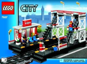 Lego Train Station - 7937 (2010) - Train Station BI 3006/80+4 - 7937 V. 39 2/2