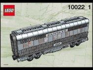Lego Santa Fe Cars II - 10022 (2002) - PASSENGER TRAIN BUILD. INSTRUCTION 10022-1
