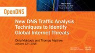 New DNS Traffic Analysis Techniques to Identify Global Internet Threats