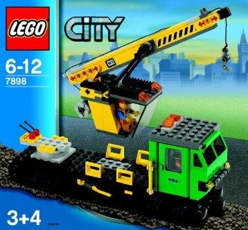 Lego Cargo Train Deluxe - 7898 (2006) - Train - 7895-7896-7897 BUILD INSTR 3005, 3-4/8 7898