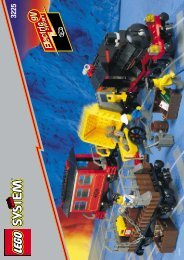 Lego LOCOMOTIVE (OLD) W.4 CARRIAGES - 3225 (1998) - Train Engine Shed BUILDING INSTR. 3225 IN