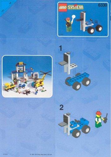 Lego Cargo Express Hub - 6330 (1998) - LEGO® Truck BUILD.INS.6330 FORK-LIFT 1/6