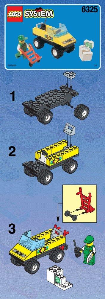 Lego Cargo Express - 6325 (1998) - LEGO® Truck BUILD. INST. 6325 CAR 1/1