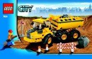 Lego Dump Truck - 7631 (2008) - Crawler Crane BUILD INSTR 3004, 7631 IN
