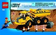 Lego Dump Truck - 7631 (2008) - Crawler Crane BUILD INSTR 3004, 7631 NA
