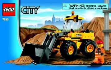 Lego Front-end Loader - 7630 (2009) - DUMPER AND MINI DIGGER BI 3003/24 - 7630-V.39
