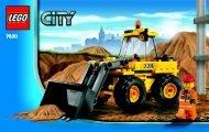 Lego Front-end Loader - 7630 (2009) - Crawler Crane BI 3003/24 - 7630-V.29