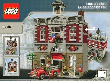 Lego Fire Brigade - 10197 (2009) - Build the breathtaking Taj Mahal! BI 3006/60+4 10197 V46/39 2/2
