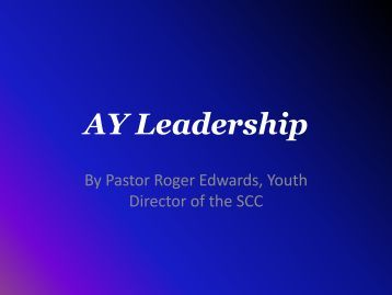 AY Leadership - Adventist Youth Department
