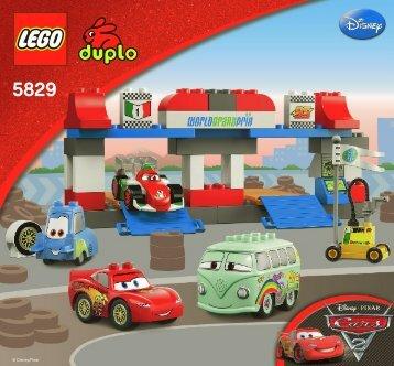 Lego The Pit Stop - 5829 (2011) - Disney Pixar Cars™ Classic Race BI 3005/16 GLUED-5829 V29/V39