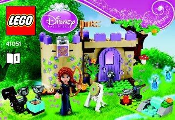 Lego Merida's Highland Games - 41051 (2014) - Ariel's Amazing Treasures BI 3010/28 - 41051 V29 BOOK 1/2