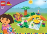 Lego Dora and Boots at Play Park - 7332 (2004) - Dora Club Co-Pack BUILDINGINSTRUCTION 7332 IN/NA