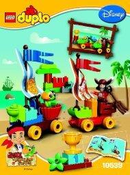 Lego Beach Racing - 10539 (2014) - Never Land Hideout BI 3022/12-65G - 10539 V39