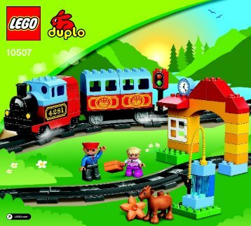 Lego My First Train Set - 10507 (2013) - Horse Stable BI 3017 / 24 - 65g, 10507 V110/V140