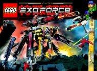 Lego Combat Crawler X2 - 7721 (2007) - Mobile Defense Tank BUILD INSTR 3006, 7721 1/2 IN