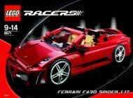 Lego Ferrari F430 Spider 1:17 - 8671 (2006) - Enzo Ferrari BI - 8671 IN