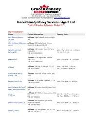 GraceKennedy Money Services - Agent List