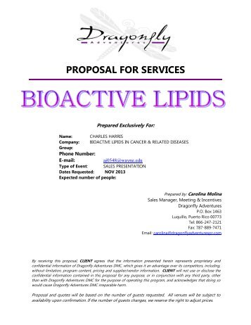 Suggested Tourist Activities in San Juan - Bioactive Lipids Conference