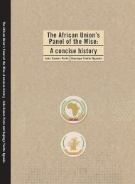 The African Union's Panel of the Wise A concise history