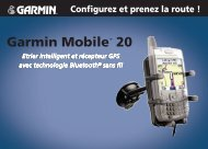 Garmin Mobile 20 - Configurez et prenez la route