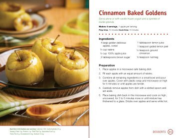 Cinnamon Baked Goldens - Champions for Change