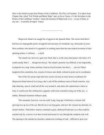 Here is the fourth excerpt from Pirates of the Caribbean ... - AC Crispin