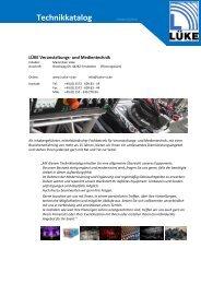Technikkatalog - LÜKE Veranstaltungs- und Medientechnik