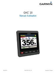 Garmin GHP™ 20 Marine Autopilot System for Steer-by-wire with GHC™ 20 - Manuel d'utilisation