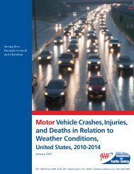 Motor Vehicle Crashes Injuries and Deaths in Relation to Weather Conditions