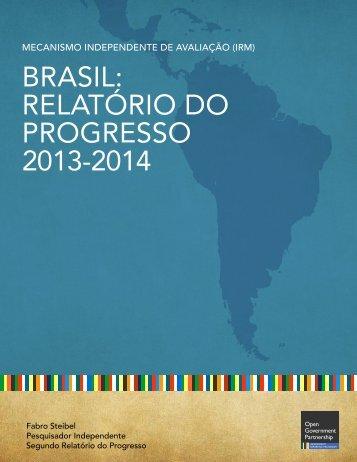 Brasil relatório do progresso 2013-2014