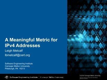 A Meaningful Metric for IPv4 Addresses