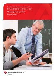 Lehrerarbeitslosigkeit in den Sommerferien 2015