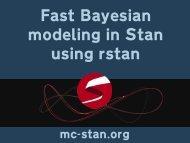 modeling in Stan using rstan