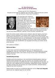 1 Dr. Maria Montessori Haar Filosofie van de Opvoeding ... - Kelpin